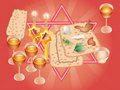 Sacral meal on Pesakh ( Passover) Royalty Free Stock Photo