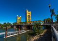 Sacramento California Tower Bridge Royalty Free Stock Photo