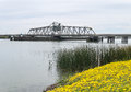 Sacramento River Delta bridge Royalty Free Stock Photo