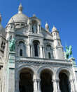 Sacre ceure cathedral in paris detail of france Stock Photo
