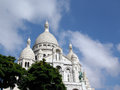 Sacre coeur basilica in the montmartre section of paris Stock Photography