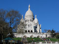 Sacre coeur basilica in paris Stock Photos