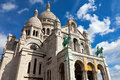 Sacre coeur the basilica in paris Royalty Free Stock Image