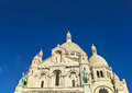 Sacre coeur basilica paris france with blue sky Royalty Free Stock Photography