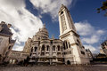Sacre coeur basilica in paris view of the france Royalty Free Stock Photos
