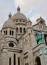 Sacre Coeur Cathedral from below Royalty Free Stock Photo