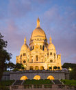 Sacre Coeur Cathedral at Night Stock Photos