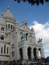 Sacre Coeur Church Facade Paris Royalty Free Stock Images