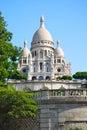 Sacre Coeur Church Paris France on Sunny Day Royalty Free Stock Photo