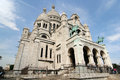 Sacre coeur church paris picture taken april paris france Royalty Free Stock Photography