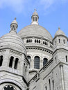 Sacre Coeur Cupolas in Paris, France Royalty Free Stock Photo