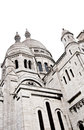 Sacre coeur de montmartre detail of the basilica of the sacred heart of paris commonly known as sacré cœur basilica dedicated to Royalty Free Stock Images