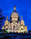 Sacre Coeur by Night Royalty Free Stock Photo