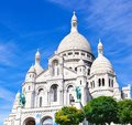 Sacre coeur in paris basilica couer at montmartre france Royalty Free Stock Photos