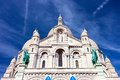 Sacre coeur in paris basilica couer at montmartre france Royalty Free Stock Images