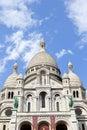 Sacre coeur in paris the beautiful basilique du de monmartre france Royalty Free Stock Image