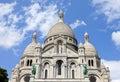 Sacre coeur in paris the beautiful basilique du de monmartre france Royalty Free Stock Photography