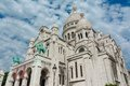 Sacre coeur paris frace the basilique basilica of the sacred heart is a roman catholic church and familiar landmark in located on Royalty Free Stock Photo