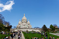 Sacre coeur in paris france Stock Images
