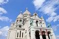 Sacre coeur in paris france august th the beautiful basilique du de monmartre on th august Royalty Free Stock Images