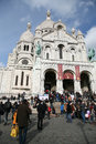 Sacre coeur paris france the basilica of the sacred heart of commonly known as basilique du Stock Photography