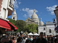 Sacre Couer and Painters Plaza Paris Royalty Free Stock Images