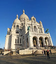 Sacre couer paris france december basilica of coeur on december in the center it is located the bibliotheque publique d Royalty Free Stock Image