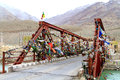 Sacred bridge beautiful shot of in leh ladhak india Royalty Free Stock Image