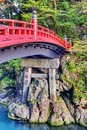 Sacred bridge of nikko japan october Stock Photos