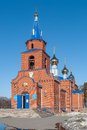 Sacred church of st george zavodoukovsk russia was constructed in siberia Stock Photo