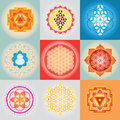 Sacred geomerty set vector of posters Royalty Free Stock Photography