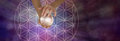 Sacred Geometry and Crystal Ball Scrying Royalty Free Stock Photo
