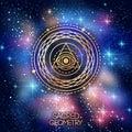 Sacred Geometry Emblem with Eye