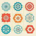 Sacred geometry flower of life symbols vector flowers Royalty Free Stock Photos