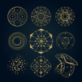 Sacred geometry forms, shapes of lines, logo