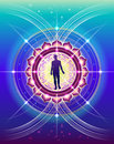 Sacred geometry of human life the symbolic abstract image development with elements as a scientific method for the study Royalty Free Stock Images
