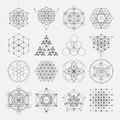 Sacred geometry vector design elements. Alchemy Royalty Free Stock Photo