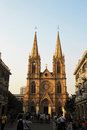 Sacred heart catholic cathedral in the guanzhou china a Royalty Free Stock Photography