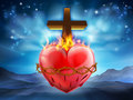 Sacred Heart Christian Illustration Royalty Free Stock Photo