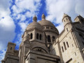 Sacred heart church in paris spectacular view of the sacre coeur Royalty Free Stock Photo