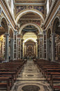 Sacred heart of jesus church rome january interior view sacro cuore di gesu a castro pretorio on january in rome the was elevated Royalty Free Stock Image