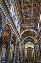 Sacred heart of jesus church rome january interior view sacro cuore di gesu a castro pretorio on january in rome the was elevated Stock Photo