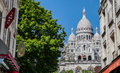 Sacred Heart Sacre Coeur Church in Montmartre Royalty Free Stock Photo