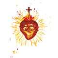 Sacred Heart (vector) Stock Photography