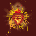 Sacred Heart (vector) Royalty Free Stock Photo