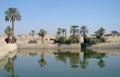 Sacred lake in karnak luxor Stock Image