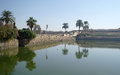 Sacred lake in karnak luxor Stock Photo