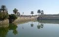 Sacred lake in karnak luxor Stock Photo