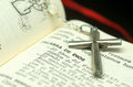 Sacreed books picture of sacred symbols of christianity Stock Photography
