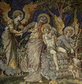 Sacrifice of Isaac by Abraham (mosaic) Royalty Free Stock Photo